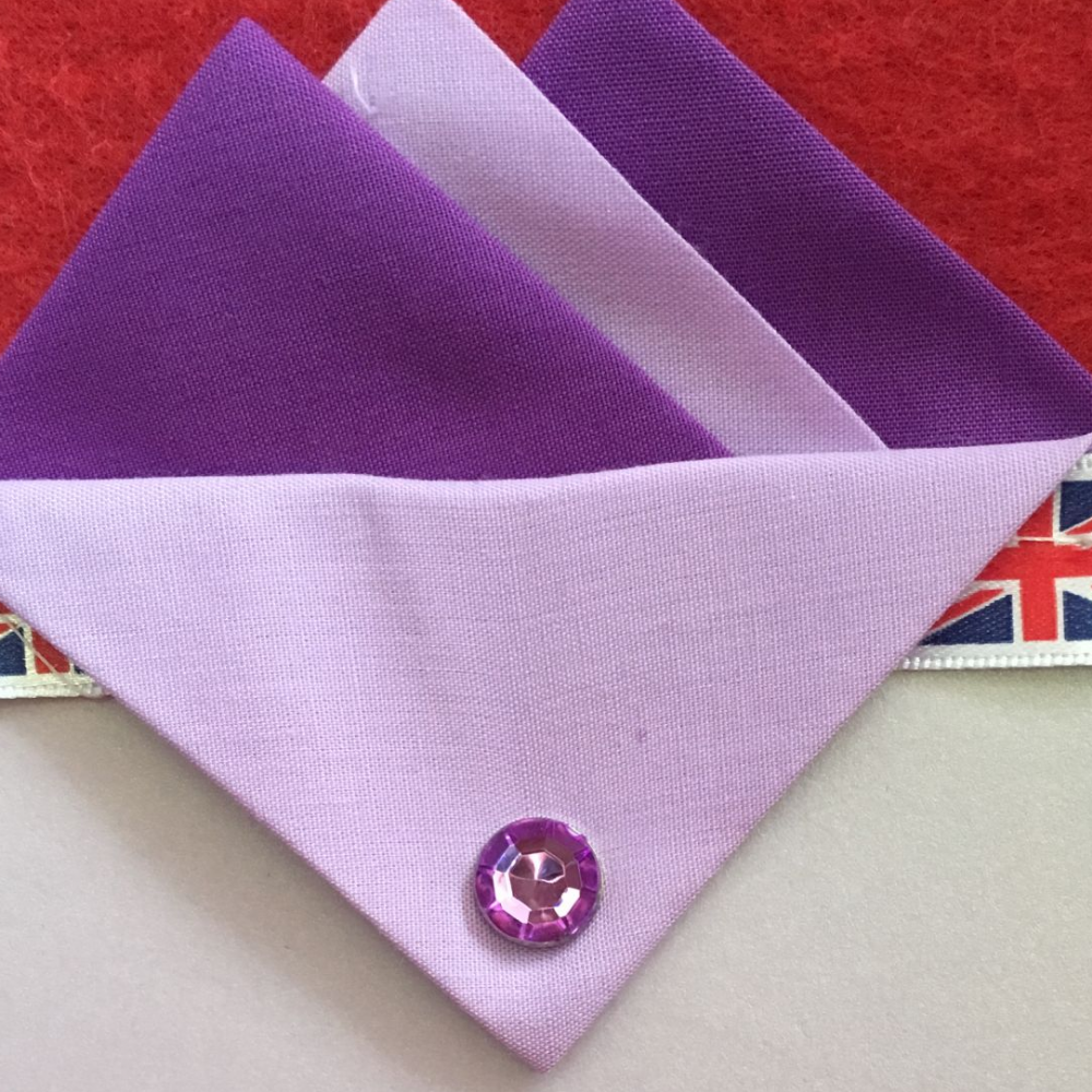 Dark and Light Purple Hankie With Light Purple Flap and Pin